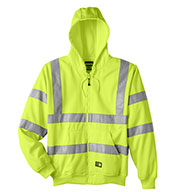 Berne Mens Hi-Vis Class 3 Lined Sweatshirt
