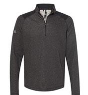 Adidas Mens Heathered Quarter Zip Pullover