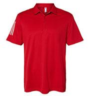 Adidas Mens Floating 3-Stripes Sport Shirt