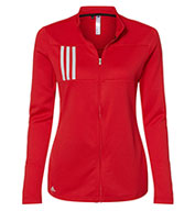 Adidas Womens 3-Stripes Double Knit Full-Zip