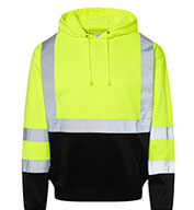 ML Kishigo Mens Hi-Vis Hooded Sweatshirt