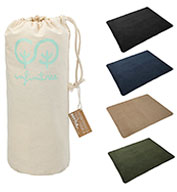 Leeds 100% Recycled PET Fleece Blanket with Canvas Pouch
