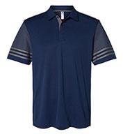 Adidas Mens Striped Sleeve Sport Shirt