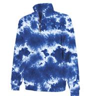 Charles River Unisex Crosswind Quarter Zip Tie-Dye Sweatshirt