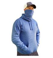 J America Adult Gaiter Fleece Hooded Sweatshirt