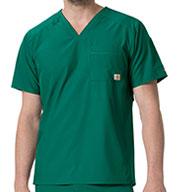Carhartt Medical Mens Liberty Slim Fit V-Neck Back Vent Top