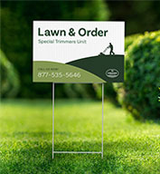 Yard Sign - 12 inch x 18 inch with Stakes