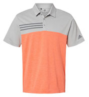 Adidas Mens Heathered Colorblock 3-Stripes Sport Shirt