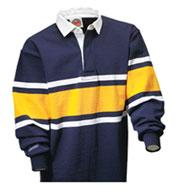 Barbarian® Unisex Collegiate Stripe Rugby Shirt
