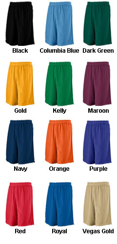 Adult Long Mesh Short with 9 Inseam - All Colors
