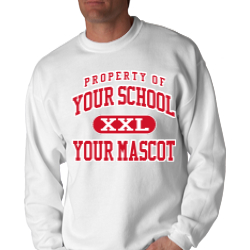 Lincoln Elementary School Custom Crewneck Sweatshirt