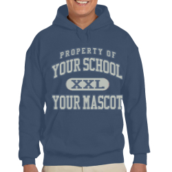 Warrior Run Middle School Custom Hooded Sweatshirt
