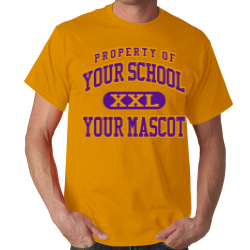 B L Garza Middle School Custom Adult T-shirt